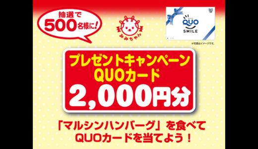 [マルシンフーズ] 「マルシンハンバーグ」を食べてQUOカードを当てよう! | 2018年12月17日(月) 当日消印有効