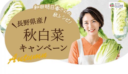 [JA全農長野] 長野県産秋白菜キャンペーン | 2019年10月31日(木)まで ※当日消印有効