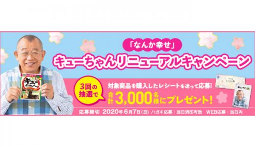 [東海漬物] 「なんか幸せ」キューちゃんリニューアルキャンペーン | 2020年6月7日(日) まで