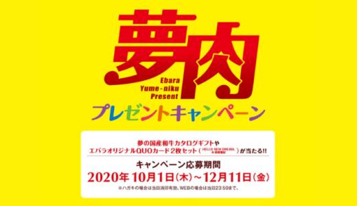 [エバラ] 夢肉プレゼントキャンペーン | 2020年12月11日(金) まで