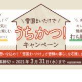 [雪国まいたけ] QUOカードPay総額200万円!「うちかつ!」Twitterキャンペーン | 2021年3月8日(月) まで